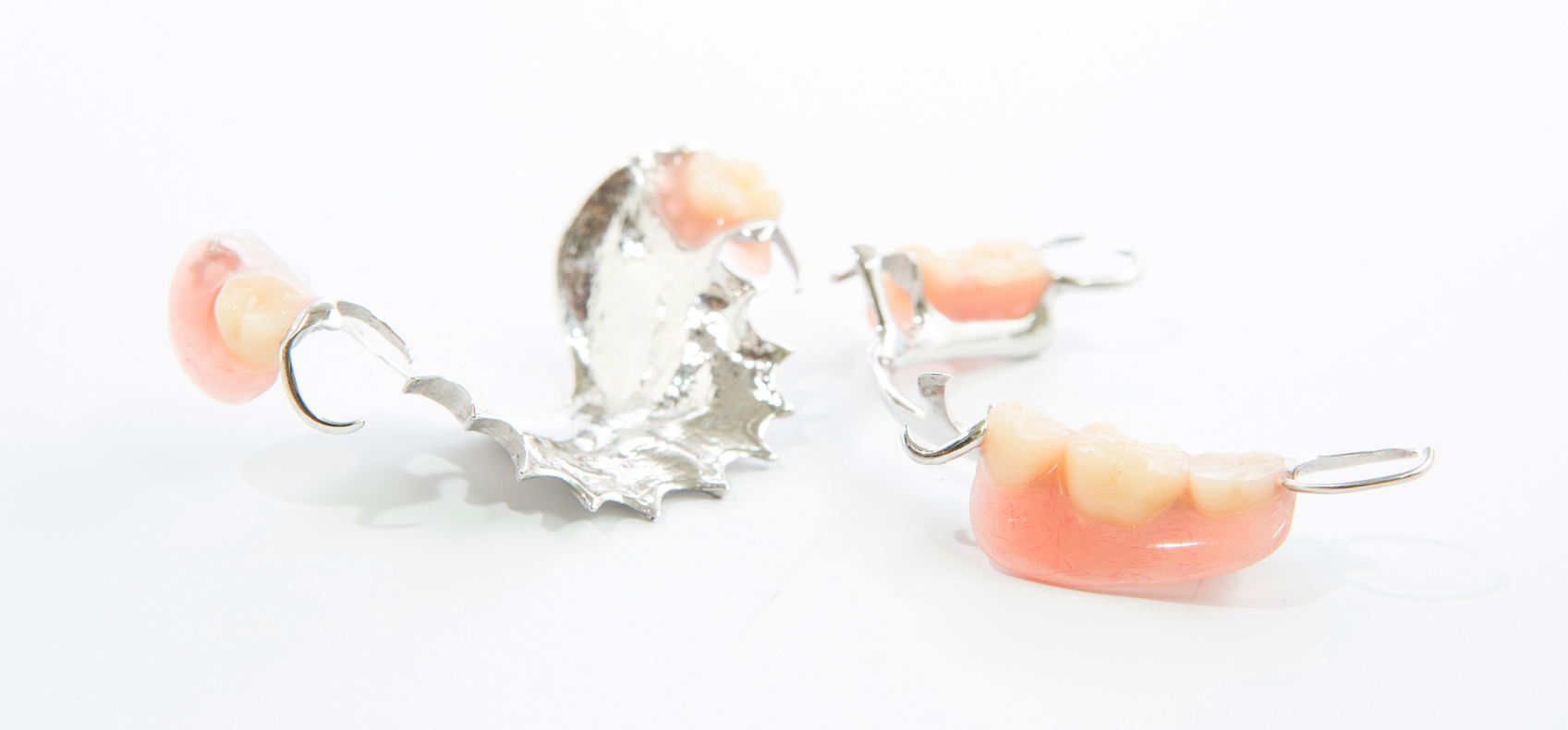 AN image of fixed partial dentures with a white background
